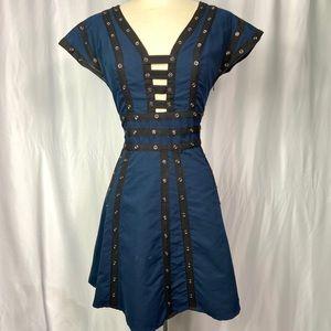 Zac Posen button a line dress